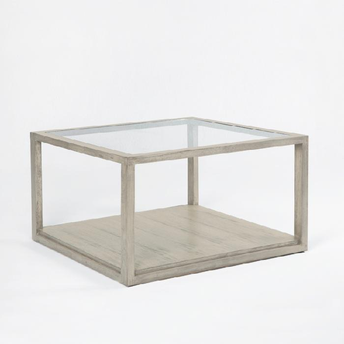 Mesa de centro de madera y cristal kiveka decoraci n for Mesas de centro madera y cristal