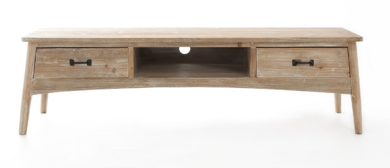 Mueble tv madera natural kiveka decoraci n de - Muebles madera natural ...